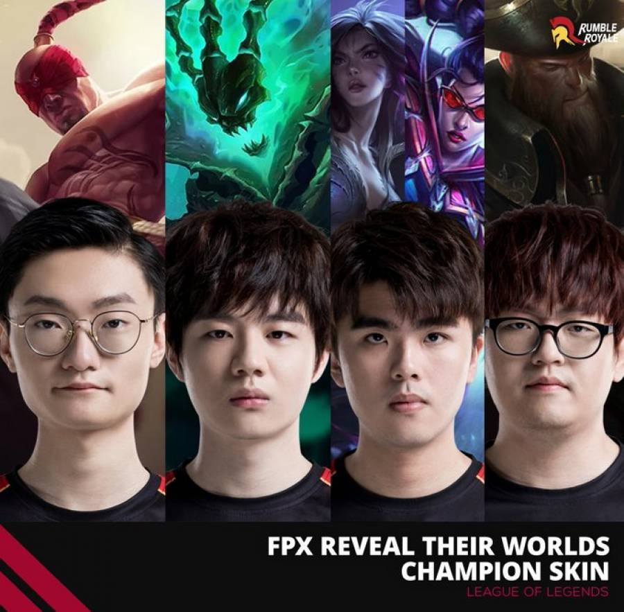 FunPlus Phoenix Reveal their Worlds champion skins