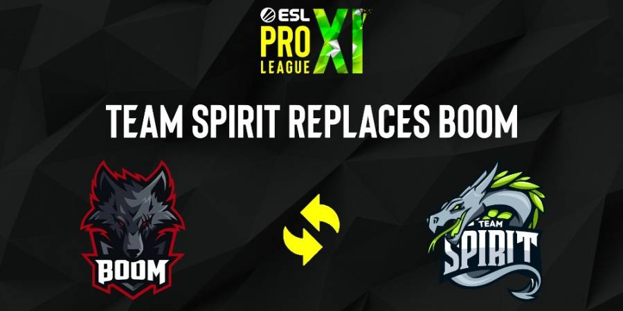 Spirit will replace BOOM Esports at ESL Pro League