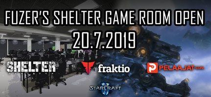 Fuzer Shelter Game Room Open